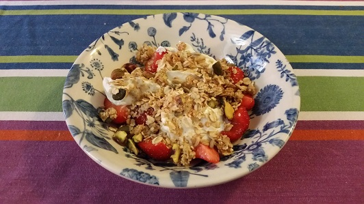 Homemade Granola With Fruit And Yoghurt