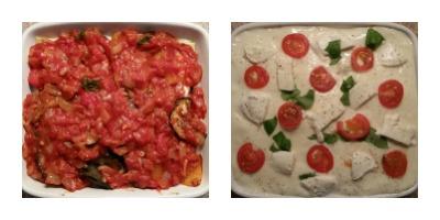 Preparing roasted vegetable lasagne
