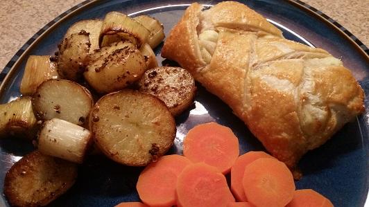 Leek Potato and Coriander Bake