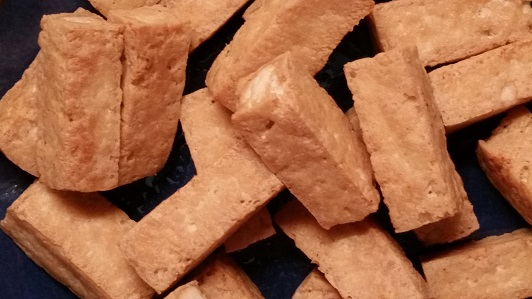 Fried tofu for jungle curry