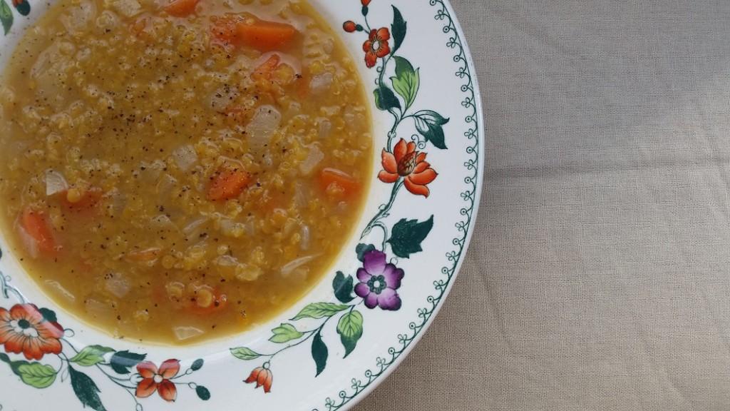 Frugal red lentil soup