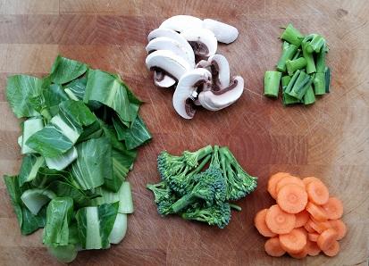 Noodle hot pot vegetables