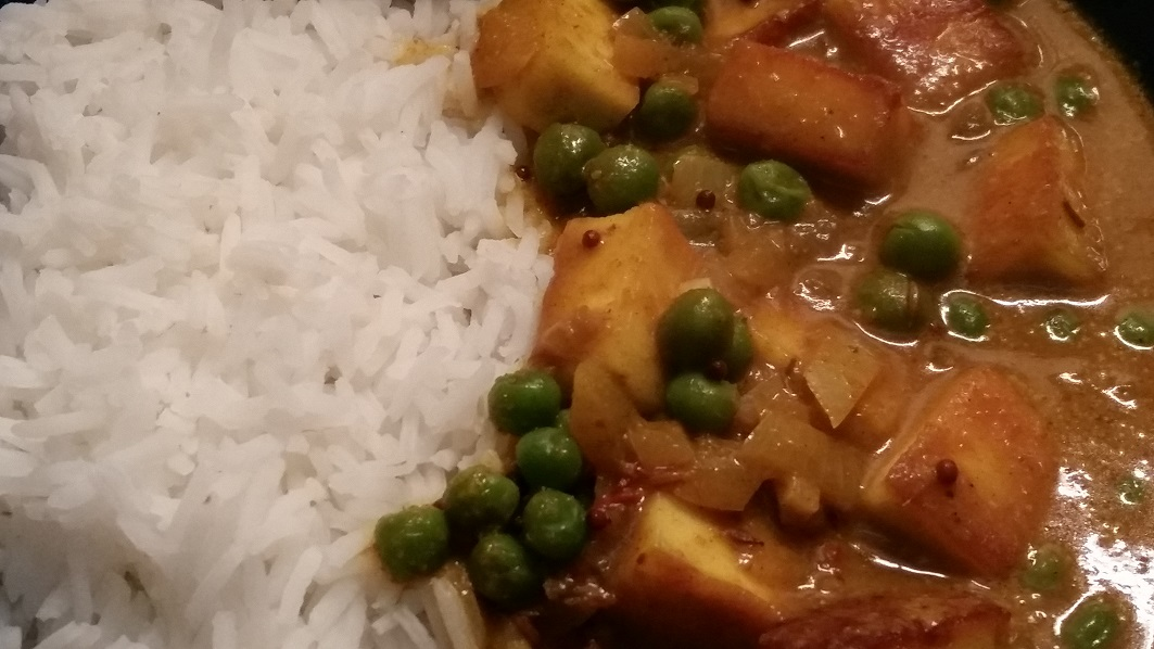 Pea And Paneer Masala