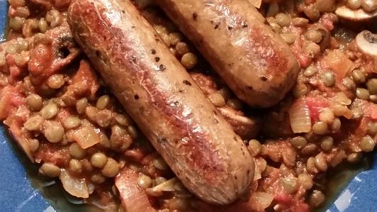 Puy Lentil And Mushroom Sauce