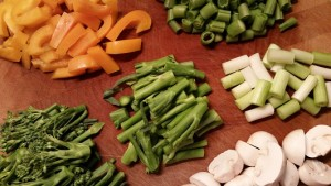 Vegetables for jungle curry